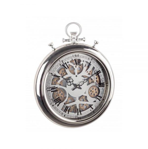 Orologio da Parete Gear Silver Chrono