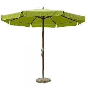 Ombrellone Sun Legno Verde 3m