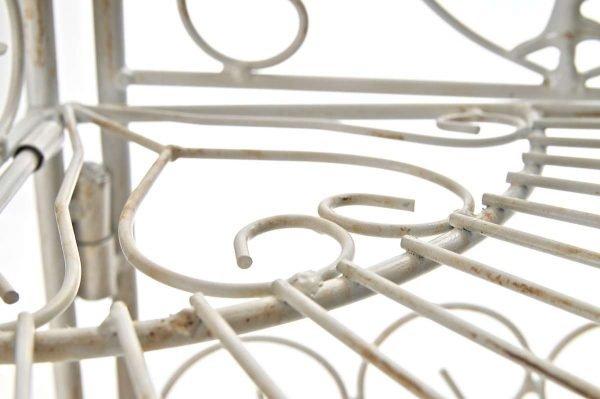 Scaffale Angolare Marie Bianco Antico